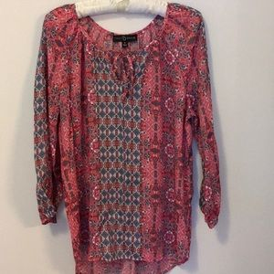 Fred David Size M Boho Print Blouse